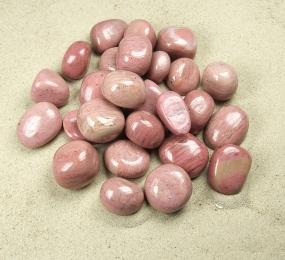 versteinertes Holz / pink aus China Trommelsteine in Grösse L - ca. 500gr