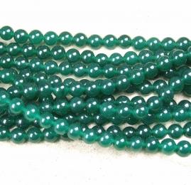Jade grün behandelt Kugelstrang ca. 8 mm / ca. 40 cm
