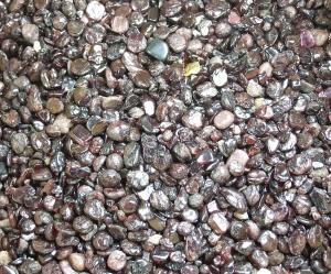 Granat - Chips ca. 1000 gr. / 4 - 10 mm