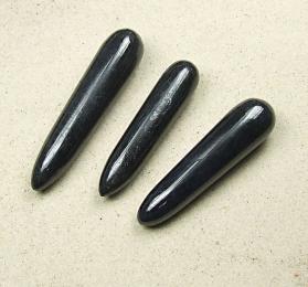 Schwarzer Turmalin / Schörl Massagestab ca. 80 - 100 mm