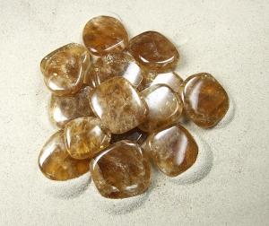 Honigcalcit Scheibensteine / Taschensteine - ca. 500 gr.