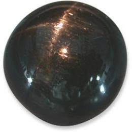 Sterndiopsid rund Cabochon Schwarz - ca. 10 - 12 mm