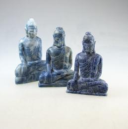 Buddha Gravur aus Burma Lapislazuli ca. 50-60 mm