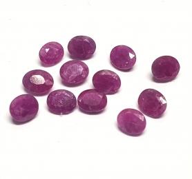 Rubin aus Burma / Myanmar oval facettiert ca. 5x6 mm