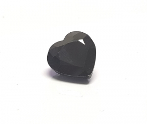 Saphir schwarz Herz facettiert ca. 11x10 mm / ca. 5,5-6,5 ct.