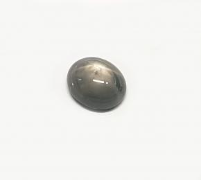 Sternsaphir grau-blau aus Myanmar / Burma ca. 4,65 ct. / ca. 10 x 8.5 mm
