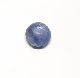 Sternsaphir blau aus Myanmar / Burma ca. 6,95 ct. / ca. 10 mm