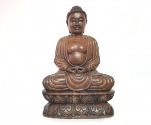 Buddha Statue Ebenholzschnitzerei aus Myanmar - Burma - ca. 2,8 Kg / ca. 32 x 20 cm