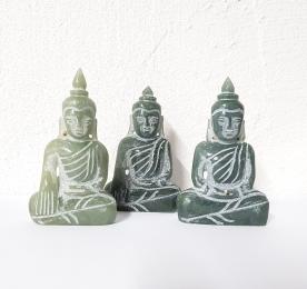 Buddha Statue aus Jadeit / Jade A/B Qualität ca. 60-75 mm