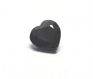 Saphir schwarz Herz facettiert ca. 11,5 x 11 mm