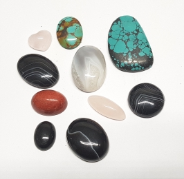 10er Set Cabochon - Mix ca. 10 bis 40 mm