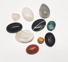 10er Set Cabochon - Mix ca. 10 bis 30 mm