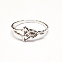 Fingerring aus 925 Silber keltischer Knoten ca. 12 x 8 mm