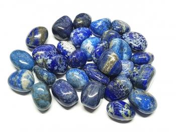 Lapislazuli Trommelsteine aus Afghanistan / ca. 500 Gramm / ca. 20-30 mm