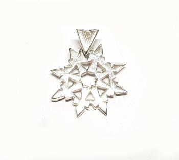 Stern Anhänger aus 925 Silber ca. 26 x 20 mm