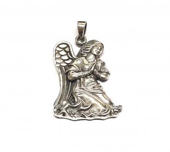 Engel Anhänger aus 925 Silber ca. 43 x 27 mm