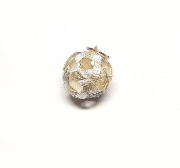 Ball Anhänger aus 925 Silber ca. 23 x 15 mm