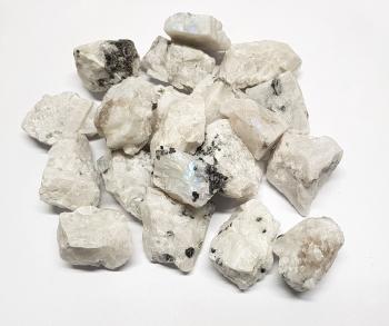 5 Kg Mondstein Regenbogen Deko Chips Rohsteine 20-30 mm aus Indien