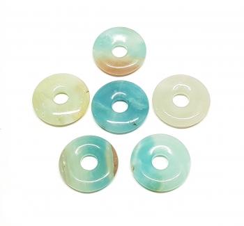 3er Set 30 mmAmazonit multicolor Donut Anhänger