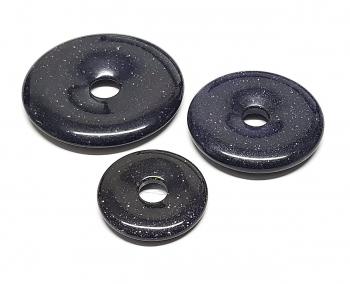3er Set 30 mm Blaufluss (synth.) Donut Anhänger
