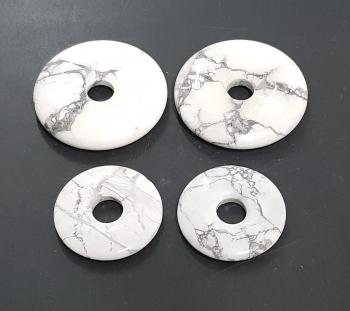 3er Set 40 mm Magnesit Donut Anhänger