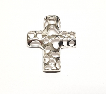 Kreuz filigran Anhänger aus 925 Silber ca. 29 x 24 mm