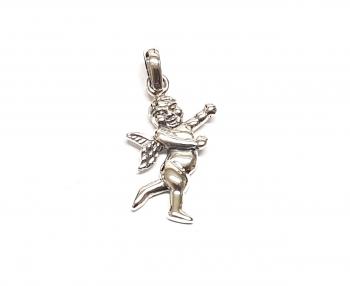 Putte Anhänger / Engel aus 925 Silber an Öse ca. 30x14 mm