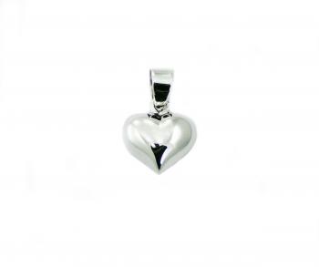 bauchiges Herz Anhänger aus 925 Silber ca. 17 x 11 mm