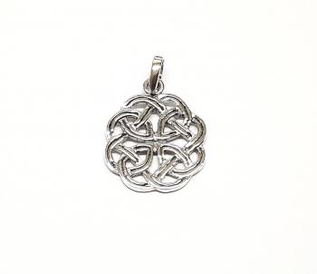 keltischer Knoten Anhänger aus 925 Silber ca. 26 x 17 mm
