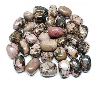 Rhodonit Trommelsteine in Grösse L - ca. 500 gr.