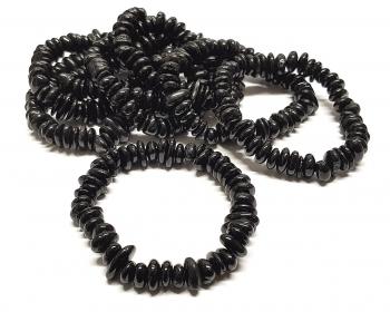 Schörl / schwarzer Turmalin Chips Armband ca. 9-11 mm / ca. 19 cm