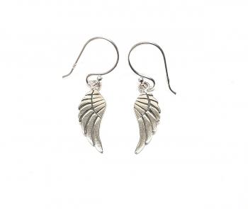 Flügel Ohrhänger aus 925 Silber ca. 29 x 5 mm