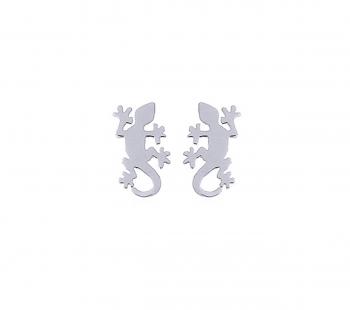 Gecko Ohrstecker aus 925 Silber ca. 12 x 6 mm