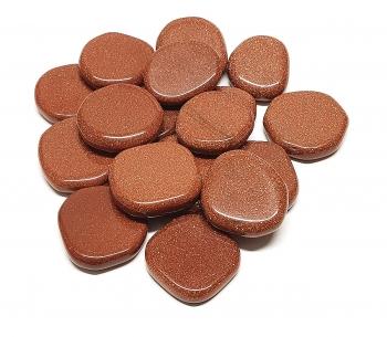 500 Gramm GEBOHRTE Citrin Chips - ca. 7-10 mm