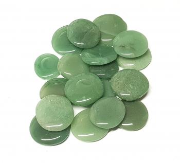 Aventurin grün Scheibensteine / Taschensteine - ca. 500 gr.