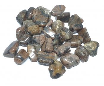 Chiastolith Trommelsteine aus China / VE = 500 gr. in Gr. L