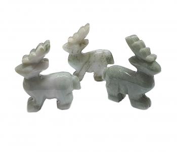 Hirsch aus Jadeit ( Jade ) ca. 52 x 50 x 17 mm