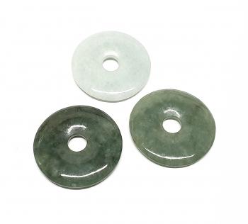 3er Set 40 mm Jade ( Jadeit ) Donut - Anhänger