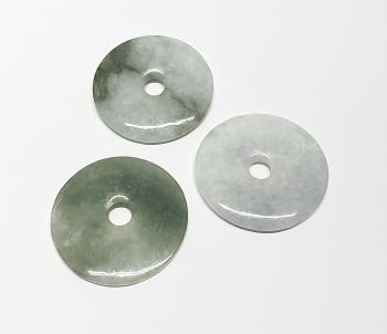 3er Set 50 mm Jade ( Jadeit ) Donut - Anhänger