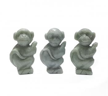 Affe aus Jadeit ( Jade ) ca. 44 x 25 x 17 mm