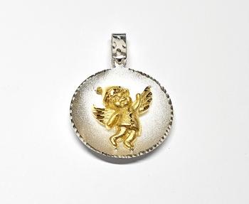 Engel Anhänger vergoldetaus 925 Silberca.30 x 20mm