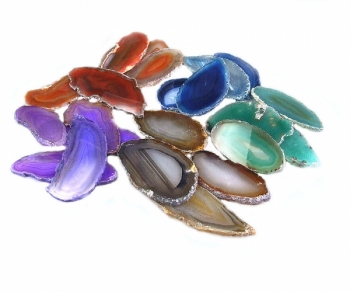 50 AchatscheibenA/B Mischung in 7 verschiedenen Farbvarianten ca. 4-6 cm