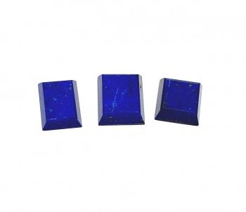 3 x Lapislazuli facettiert in versch. Größen 15x15 / 13x18 / 16x18 mm