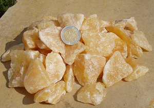 Orangencalcit Deko - Chips aus Mexiko 1,0 Kg