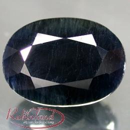 Mitternachtsblauer Saphir Oval facettiert  ca. 6 x 4 mm