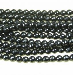 Onyx Kugelstrang facettiert ca. 10 mm / ca. 40 cm