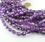 Amethyst Pampelstrang facettiert ca. 8 x 12 mm / 40 cm