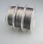 Schmuckdraht aus Edelstahl 0,30 mm / 100m - Nylonummantelt