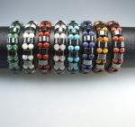 Armbänder div. Steinarten mit Hematin 13 mm / 18 cm