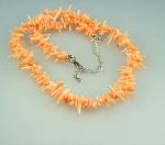 Astkoralle Halskette in pink ca. 4 - 10 mm / 42-48 cm